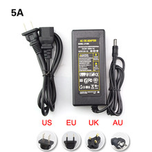 led power adapter power supply transformers for led strip 5050 3528 5630 3014 AC110-240V to DC12V5A with plug
