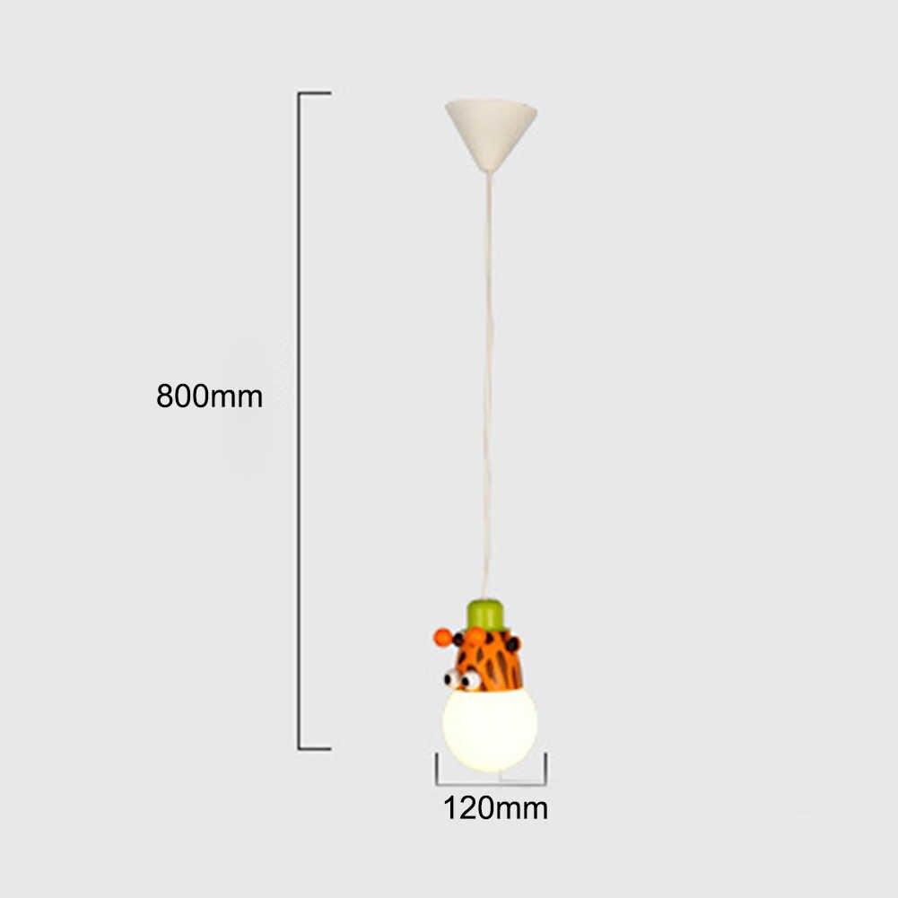 Nordic мультфильм подвесной светильник droplight простой подвесной светильник обезьяна girraf Зебра висит светильники для детей Украшения в спальню