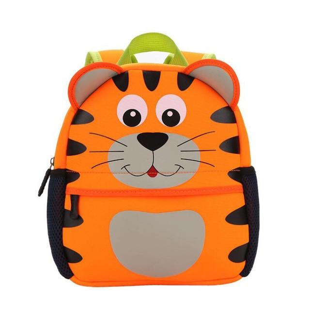 Neoprene Children 3d Kids Bag Cute Animal Design Backpack Toddler Kid School Bags Kindergarten Cartoon