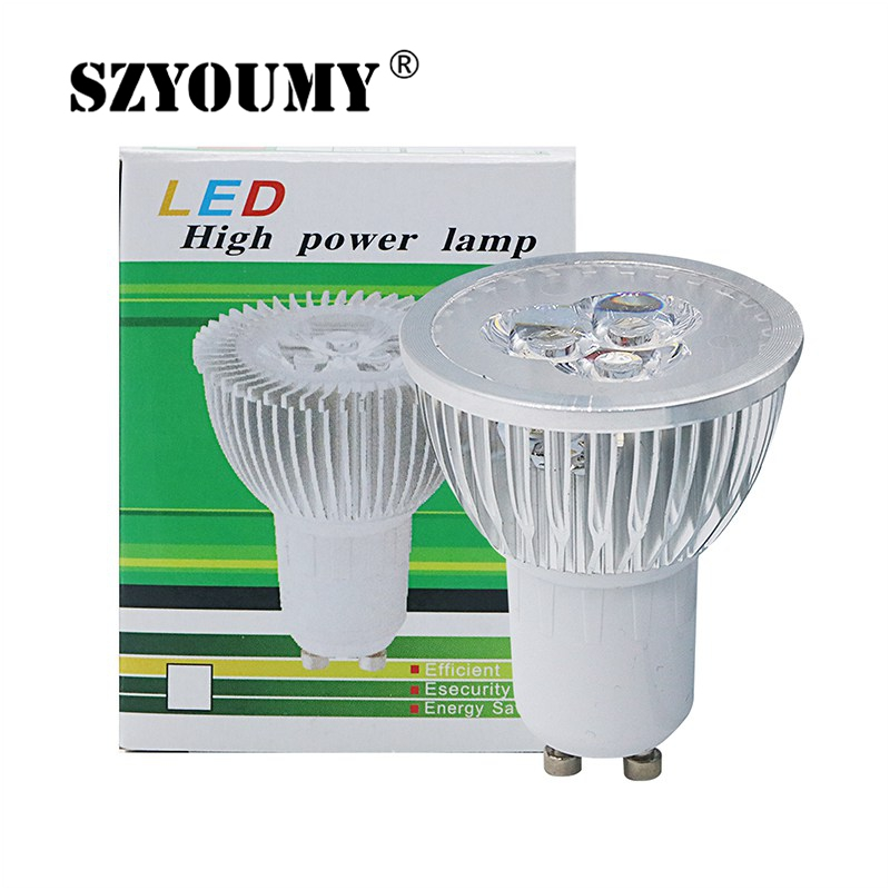 SZYOUMY GU10 3W LED Bulb Lamp 110V 220V 230V 3Leds Spot Light Kitchen Hotel Bedroom Lighting Lampada Free Shiping