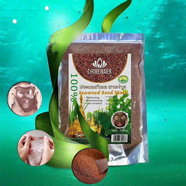 Thailand Natural Seaweed Moisturizing Herbal Powder Peel Off Mask Pore Beauty Products Seaweed mask powder 1000g все цены