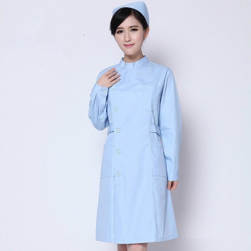 2018 New type White coat doctors Nurses Service Experiments Pharmacy Beauty salon Fashion Elegant Medical work clothes