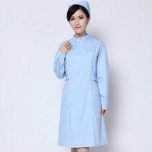 New type White coat doctors Nurses Service Experiments Pharmacy Beauty salon Fashion Elegant Medical work clothes