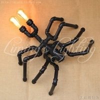 Loft Style Creative Spider Water Pipe Lamp Industrial Vintage Wall Lights Fixtures For Edison Wall Sconce Indoor Lighting