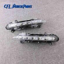 Светодиодный дневный ходовой светильник L + R, пара противотуманных фар 2218201756 2218201856 для Mercedes S-Class W221 S350 S500 2009 2010 2011 2012 2013