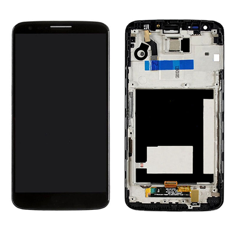 OEM LCD Display+Touch Digitizer Assembly+Frame For LG Optimus G2 D800 D801 Black