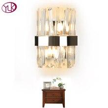 Youlaike современный настенный светильник-бра Креативный дизайн хромированный светодиодный настенный светильник для спальни с кристаллами прикроватный домашний Декор настенный светильник