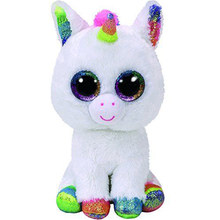"Pyoopeo Ty Beanie Boos 10"" 25cm Pixy the Unicorn Plush Medium Soft Big-eyed Stuffed Animal Collection Doll Toy for Kid(China)"