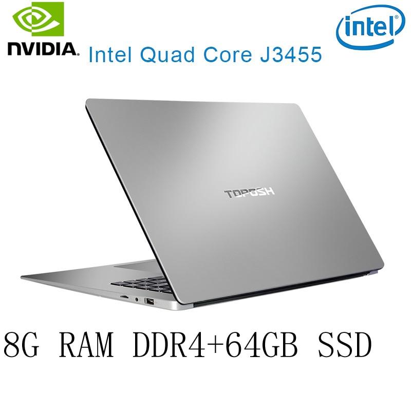 38 P2-38 8G RAM 64G SSD Intel Celeron J3455 NVIDIA GeForce 940M מקלדת מחשב נייד גיימינג ו OS שפה זמינה עבור לבחור (1)