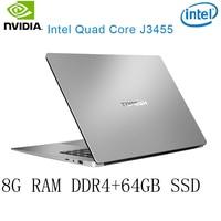 ו os P2-38 8G RAM 64G SSD Intel Celeron J3455 NVIDIA GeForce 940M מקלדת מחשב נייד גיימינג ו OS שפה זמינה עבור לבחור (1)
