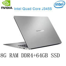P2-38 8G RAM 64G SSD Intel Celeron J3455 NvIDIA GeForce 940M Gaming laptop keyboard and OS language available for choose