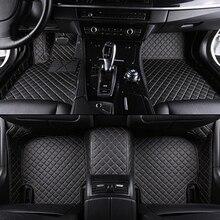 Personalizada alfombra del piso del coche para BMW F10 F11 F15 F16 F25 F20 F30 F34 E60 E70 E90 1 3 4 5 7 GT X3 X1 X4 X5 X6 Z4 car-styling auto sticker
