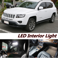 6pcs X Free Shipping Error Free LED Interior Light Kit Package For Jeep Compass Accessories 2012