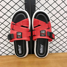 Ifrich Men Summer Fashion Beach Slippers Comfortable Indoor Bathroom Mens Red Walking Shoe Designer Casual Shoes