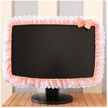 Кружевная ткань компьютерная крышка экрана дисплея Пылезащитная крышка с эластичным карманом ручки лук