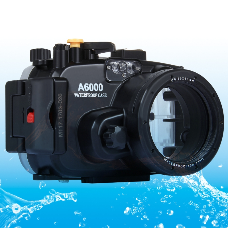 For Sony A6000 case 40m/ 130ft Diving Waterproof Camera Case Bag Housing For Sony A6000 Camera Holster new a6000 mainboard for son a6000 main board a6000 motherboard camera repair part sy 1028
