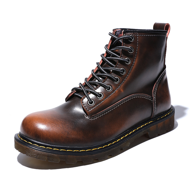 Ботинки; мужские Ботильоны; зимние кроссовки из натуральной коровьей кожи; нескользящая Водонепроницаемая Рабочая обувь - 3