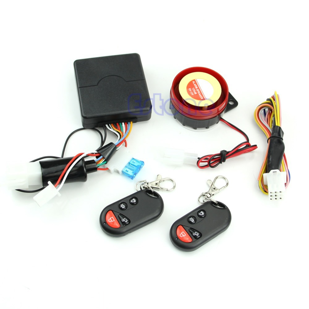 Motorcycle Bike Security Alarm System Immobiliser Remote