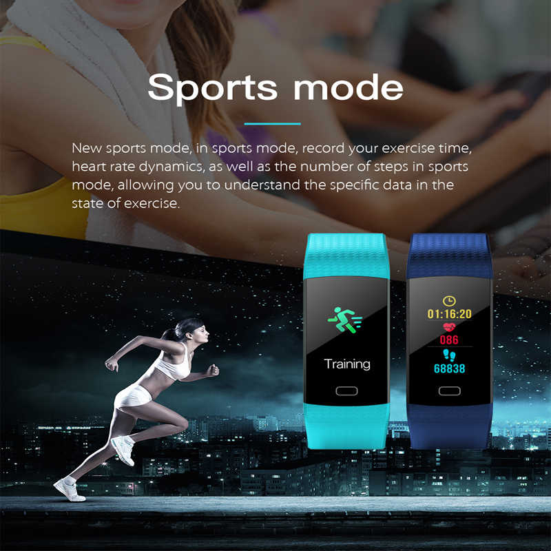 Y5 スマートバンドカラー画面心拍数モニター活動フィットネストラッカースマート腕時計血圧アラーム時計 VS Miband 2