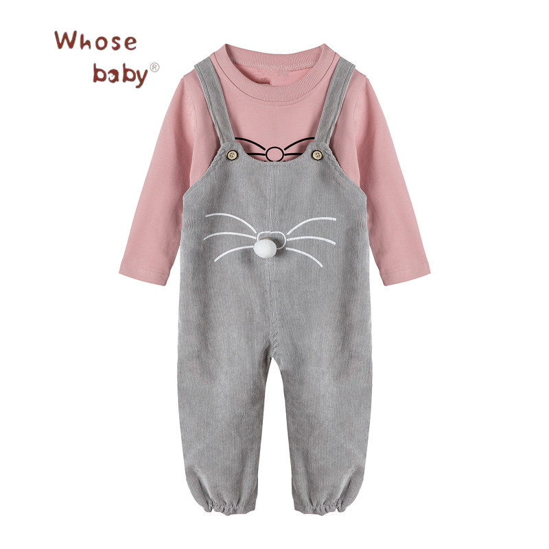 Newborn Baby Clothes Girls 2Pcs Baby Sets Shirt+Corduroy Pant Girl Clothes For Children Casual Toddler Clothing Baby Suits