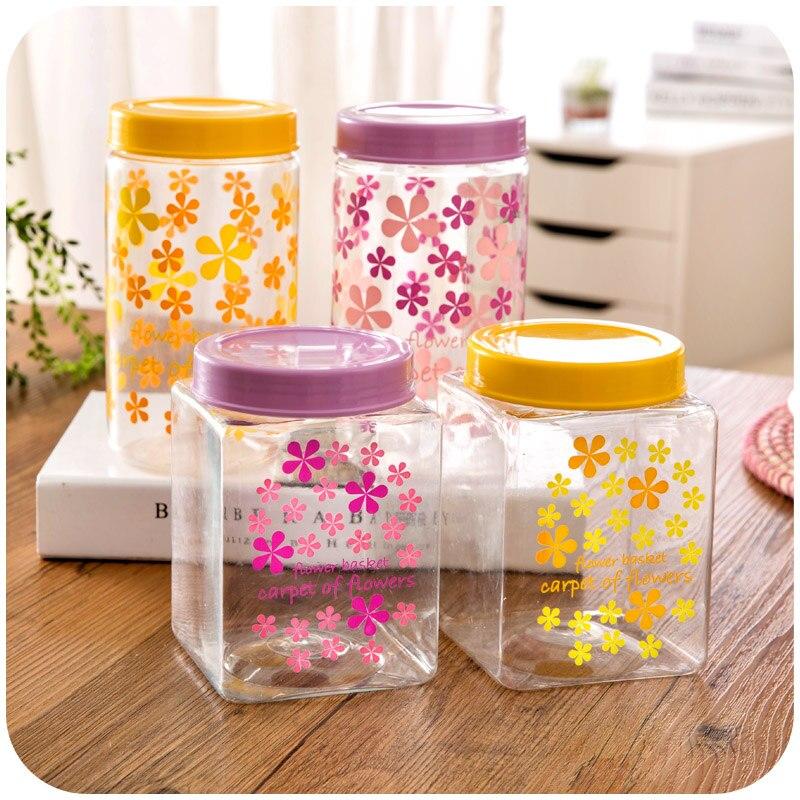 1 PC Kitchen Supplies Plastic Kitchen Storage Spice Jar Refrigerator ...