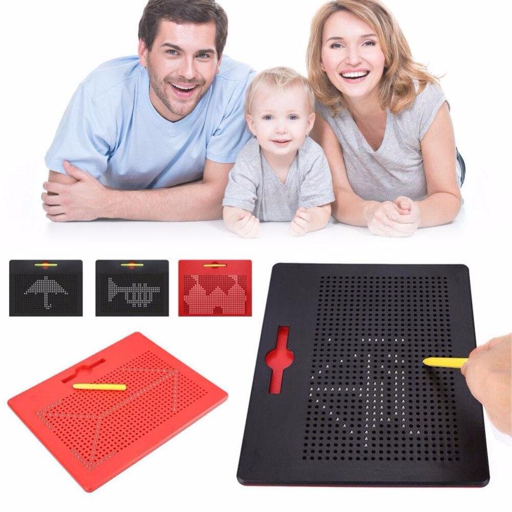 Dibujo juguetes para los niños Tablet imán Pad tablero de dibujo magnética de acero Bola de cuentas niños de juguete de felpa