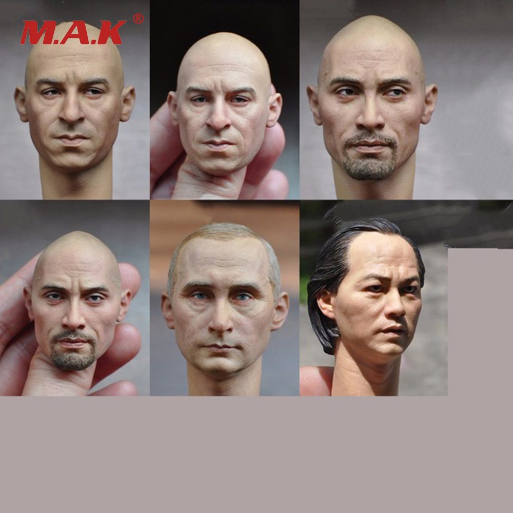 Six Styles 1/6 Scale Mens Head Sculpt for 12 Inches Male Bodies Figures Dolls Accessories Brinquedos Gifts Toys Collections мика варбулайнен призрак записки библиотекаря фантасмагория