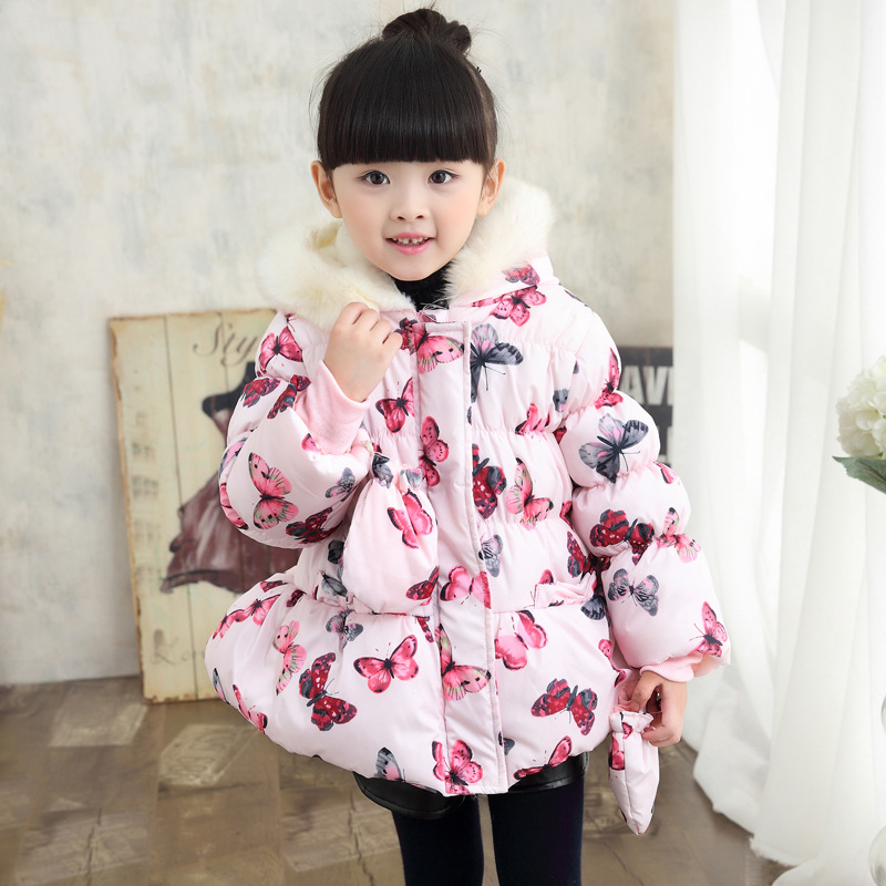 Brand New Fashion Children Parka Girls Winter Coat Hooded Warm Jacket For Girls Kids Outerwear new men s military style casual fashion canvas outdoor camping travel hooded trench coat outerwear mens army parka long jackets