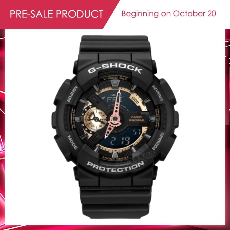 все цены на Casio g-shock watch Genuine watches male G-shock sports watches Waterproof shockproof Watch men GA-110RG-1A multi-functional онлайн