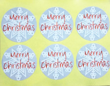 Купить с кэшбэком (100pcs/lot) Grey Merry Christmas Snowflake Sticker Adhesive Label For Handmade Products and Gift Packaging Seals Stickers 3x3cm