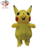 Halloween Inflatable Pikachu Costume For Women Men Cosplay Carnival Pokemon Costume Adult Games Child Mascot Costume Kids Girls
