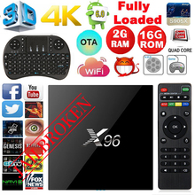 X96 TV Box Android 6.0 amlo G IC S905X Quad Core 2 ГБ/16 г TV Box 17.3 WI-FI HDMI2.0 4 К * 2 К IPTV Hi G ее чем MX Pro M8S полностью Loaded