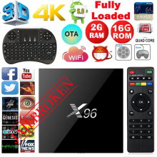X96 TV Box Android 6.0 Amlogic S905X Quad Core 2GB/16G TV Box 16.1 WIFI HDMI2.0 4K*2K IPTV Higher than MX PRO M8S Fully loaded