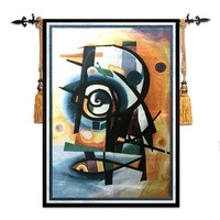 Decorative paintings Cotton 58*79cm Mediterranean style home art decor abstract fish mural wall carpet picture hanging tapestry