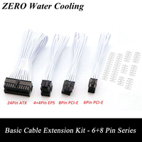 Basic Extention Cable Kit Purple Sleeved 1pcs ATX 24Pin 1pcs EPS 4 4Pin 1pcs PCI E