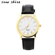 snowshine #10   Luxury Fashion Womens Diamond Leather Band Analog Quartz Wrist Watch   free shipping