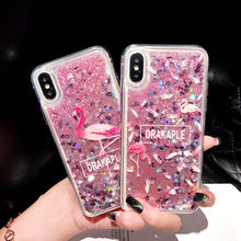 Liquid Quicksand Glitter Soft Case For Samsung Galaxy A7 A8 Plus A9 2018 Flamingo A52016 A3 2017 Capa