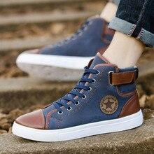 b20654f1 JINBEILEE mody wysokiej męskie Skate buty płótnie jesień i buty zimowe na  co dzień buty męskie. 3 dostępne kolory