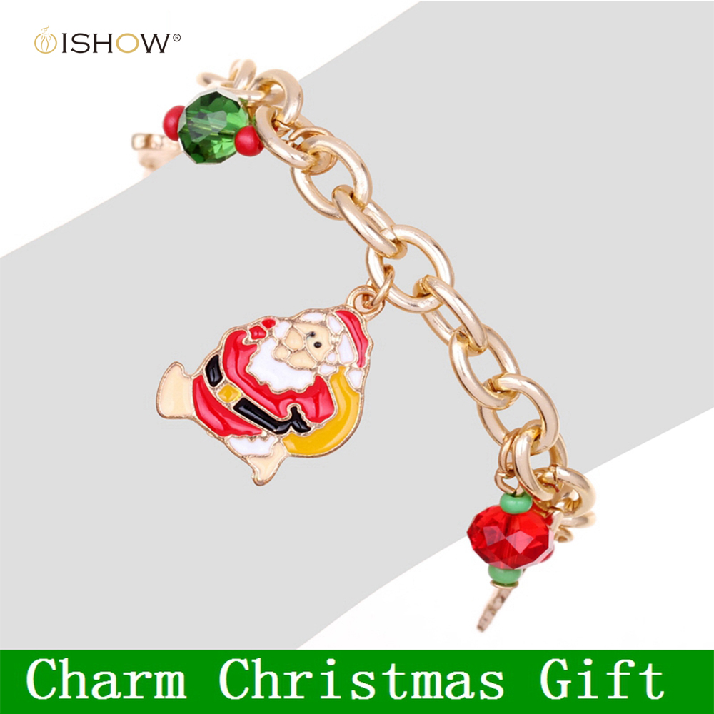 ▽New Fashion Gold Jewelry Charm Pendants Bracelet Christmas Gift ...
