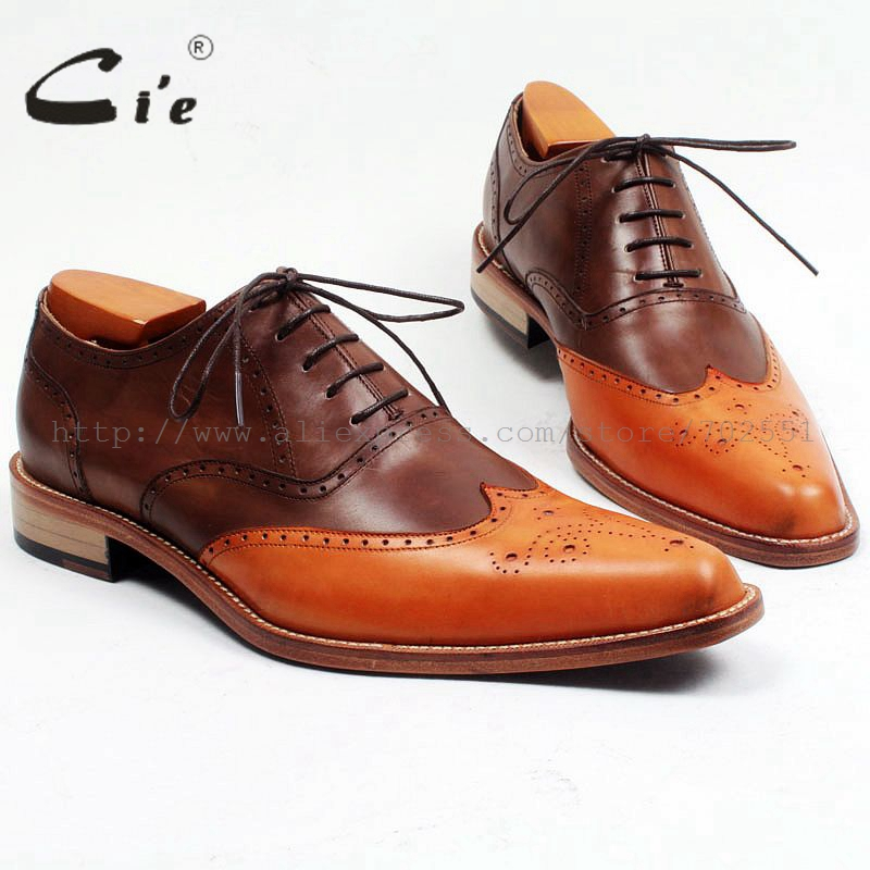 cie Casual Leather Men Shoes 100%Genuine Leather Shoes High Quality Oxford Full Brogues Mixed Colors Handmade Bespoke OX468 2017 new handmade genuine leather men shoes summer flat casual shoes original brand men oxford shoes 3 colors plus size 38 44