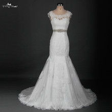 yiaibridal Cap Sleeve Wedding Dress With