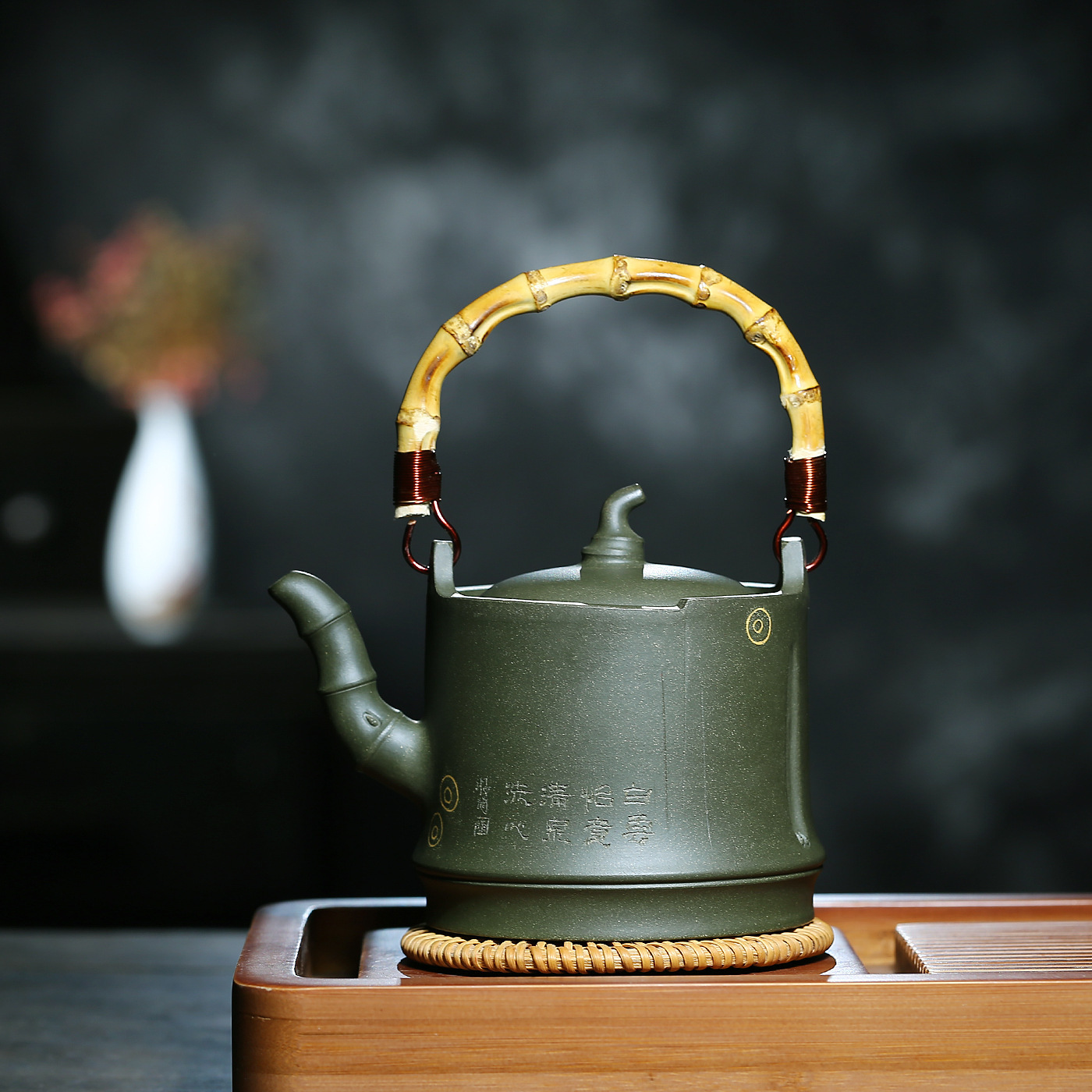 Full Manual One Leaf Bamboo Handle The Republic Of China Green Famous Shao Li Ping Kungfu Online Teapot Tea Set WholesaleFull Manual One Leaf Bamboo Handle The Republic Of China Green Famous Shao Li Ping Kungfu Online Teapot Tea Set Wholesale