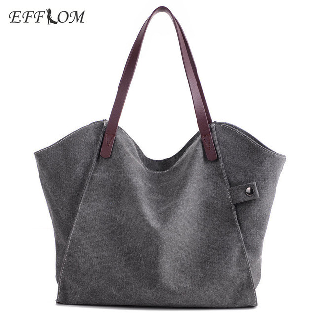 4c6a8e757 متجر على الانترنت حقائب قماش النساء حقائب كتف الإناث بسيطة الترفيه اليد حقيبة  كبيرة حقيبة تسوق