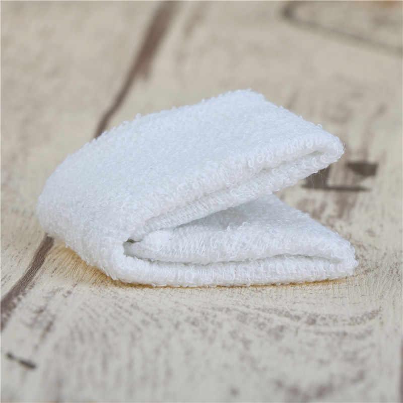 6pcs 새로운 실용적인 화이트 스퀘어 코 튼 얼굴 손 자동차 천으로 집 청소 타월 가정용 용품
