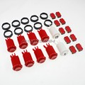 8x New Happ Style 30mm Push Buttons + One Two Player Button With Micro Switch For Arcade Mame DIY Kits parts - Red