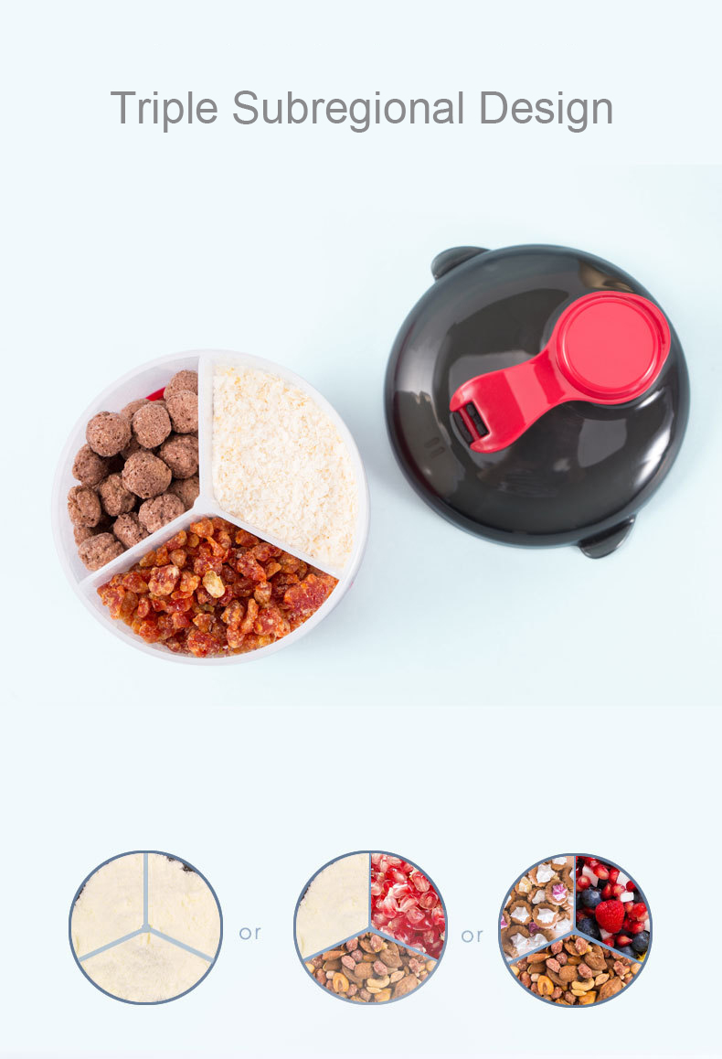 Powder Formula Dispenser and Snack Cup Portable Travel Container Bottle Storage