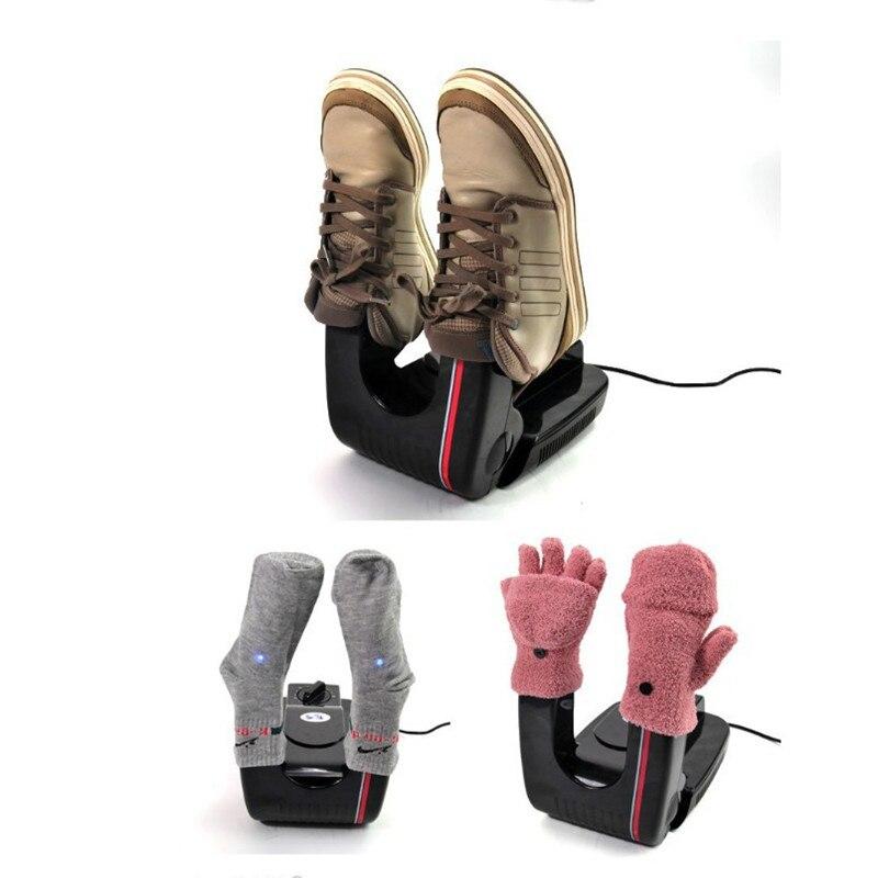 Bake Shoe Device Drying Machine Foot Protector Boot sterilization Antiperspirant Folding Gloves Socks Shoes Dryer Heater 110V