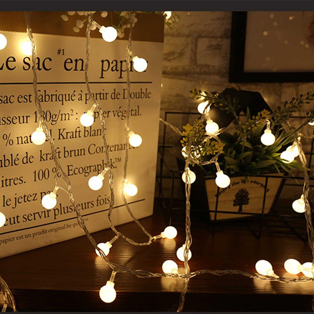 1.5M 3M 6M 10M פיית גרלנד LED כדור מחרוזת אורות עמיד למים עבור חג המולד עץ חתונת בית מקורה קישוט סוללה מופעל