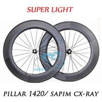 DEERACE 1429g Superlite 700c 88mm Carbon Tubular Road Bike Wheels 23mm/25mm Wide Bicycle Wheelset Pillar 1420 Aero Spokes