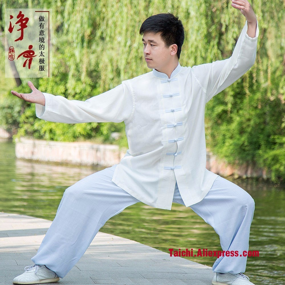 Linen New Summer Kung Fu Uniforms Long Sleeves Tai Chi Suit Martial Arts Clothing Wingchun Taiji Wear Wu Shu Performance Suit